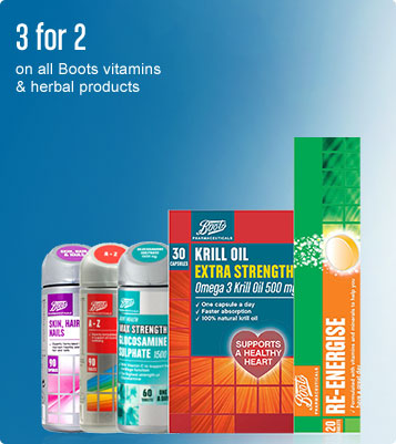 3 for 2 on boots pharmaceutical vitamins