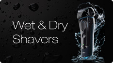 Braun wet and dry shavers