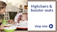 Highchairs and booster seats