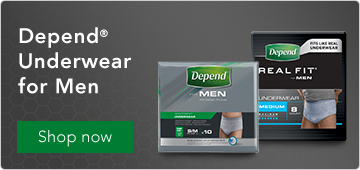 Depend underwear for men