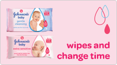 Johnson's baby wipes & change time