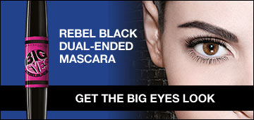 Rebel Black Dual Ended Mascara Big Eyes mascara