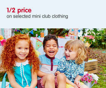 1/2 price on selected Mini Club clothing