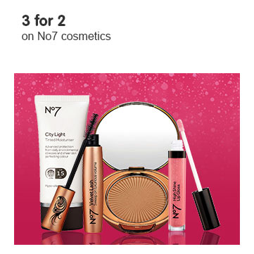 Three for two on selected Number seven makeup