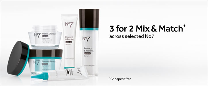 3 for 2 Mix and Match across selected Number 7 Anti-ageing