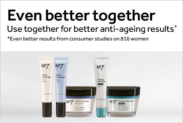 Even better together, Use No7 Day Creams and Serums for better anti ageing results