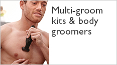 Philips multi-groom kits and body groomers