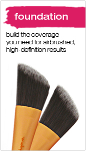real techniques foundation make up brushes