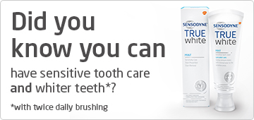 Now you can have sensitive tooth care and whiter teeth