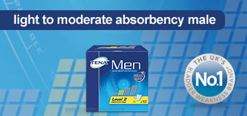 Tena light to moderate absorbancy male