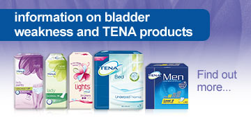 Information on bladder weakness and Tena products