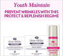 Time Delay Youth Maintain prevent wrinkles with this protect and replenish regime
