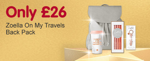 Zoella Star Gift only £26 on my travels back pack