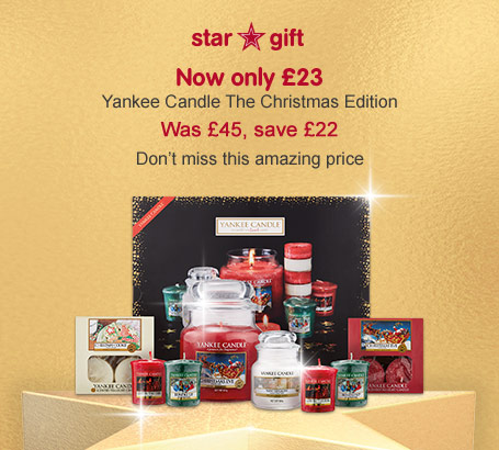 Only £23 Yankee Candle the christmas edition - star gift