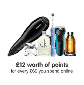 £10 worth of points when you spend for every £60 you spend online