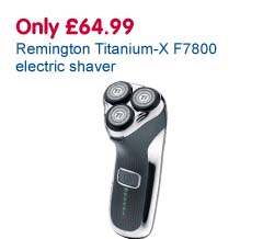 Only £64.99 Remington Titanium-X F7800 electric shaver