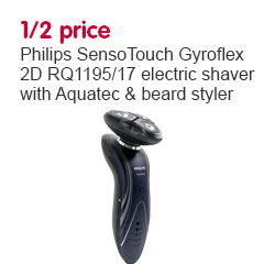 save 1 2 price on philips sensotouch gyroflex 2d rq1195 17 electric shaver. Black Bedroom Furniture Sets. Home Design Ideas