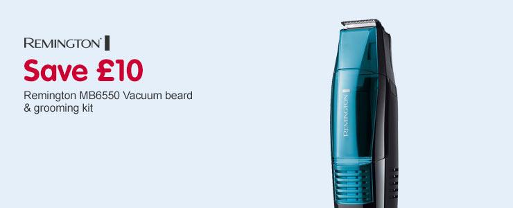 save 10 on remington mb6550 vacuum beard and grooming kit. Black Bedroom Furniture Sets. Home Design Ideas