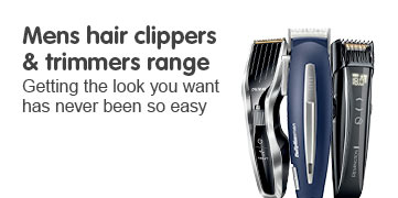 Mens hair clippers and trimmers range