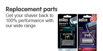 Replacement parts - get your shaver back to 100% performance with our wide range of spares