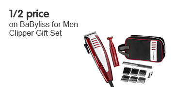 Half Price on BaByliss for Men Clipper Gift Set