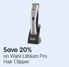 Save 20% on Wahl Lithium Pro Hair Clipper