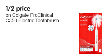 1/2 price on Colgate ProClinical C350 Electric Toothbrush