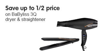 Save up to 1/2 price BaByliss 3Q range