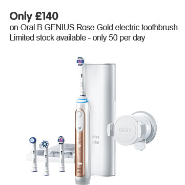 Only £140 on Oral B Genius toothbrush