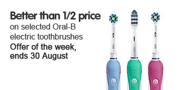 Offer of the week - Better than half price on selected Oral B 2000 toothbrushes