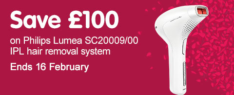 Save £100 philips lumea sc2009 ipl hair removal