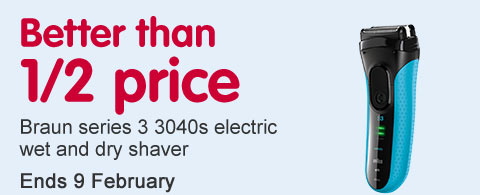 Better than half price Braun Series 3 3040 Shaver Offer of the week