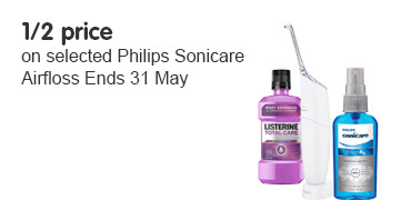 half price on selected Philips sonicare airfloss