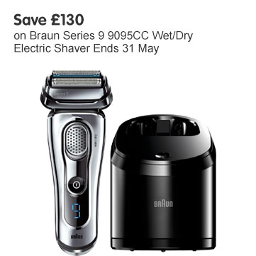 Save £130 on Braun series 9095