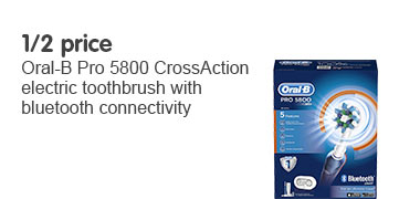Half price oral b pro 5800 cross action electric toothbrush