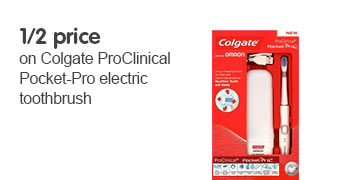 Half price colgate pro clinical pocket pro electric toothbrush