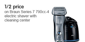 Half price on Braun series 7 790cc 4 Electric Shaver with Cleaning Center