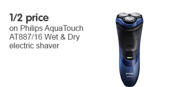 Half price on philips aqua touch AT887/16 Wet and Dry Electric Shaver