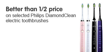 Better than half price on selected Philips DiamondClean electric toothbrushes