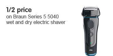 Half Price Braun series 5040 wet and dry shaver