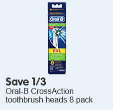Save third oral-b cross action toothbrush heads