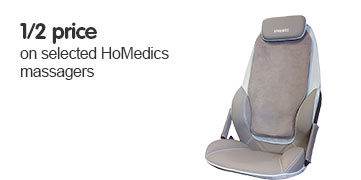 1/2 price on selected HoMedics massagers