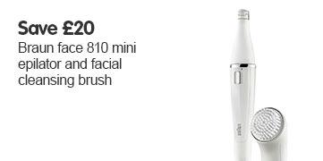 Save £20 Braun face 810 mini epilator and facial cleansing brush