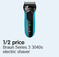 Half price braun 3040 shaver