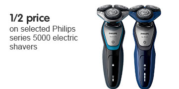 Half Price selected Philips 5000 shavers