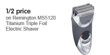 Half Price on Remington MS5120 Titanium Triple Foil Electric Shaver