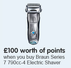 Get £100 worth of points when you buy Braun Series 7 790cc-4 Electric Shaver with Cleaning Center