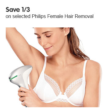Save 1/3 on selected Philips Hair Removal