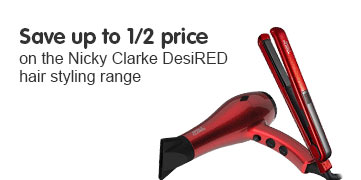 Save up to half price on selected Nicky Clarke Hair Styling