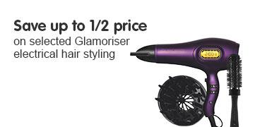 Save upto half price Glamoriser  hair styling